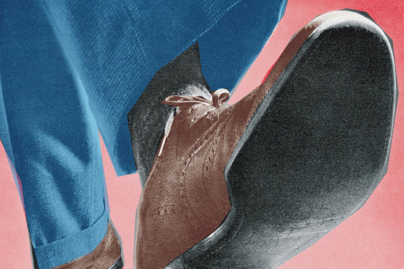 ilustração retrô de sapato masculino
