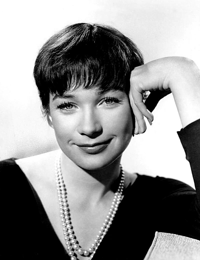 A atriz Shirley MacLean Beaty, em 1960