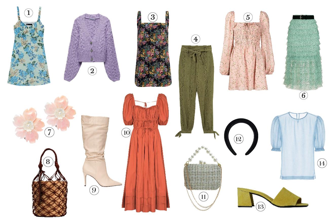 peças de roupa no estilo romântico