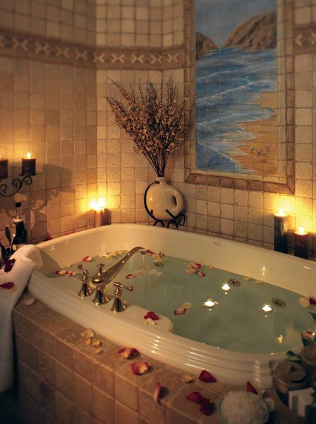 banho romântico