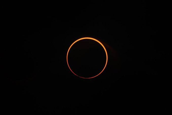 """Solar eclipse """"ring of fire"""" in Aceh, Indonesia"""