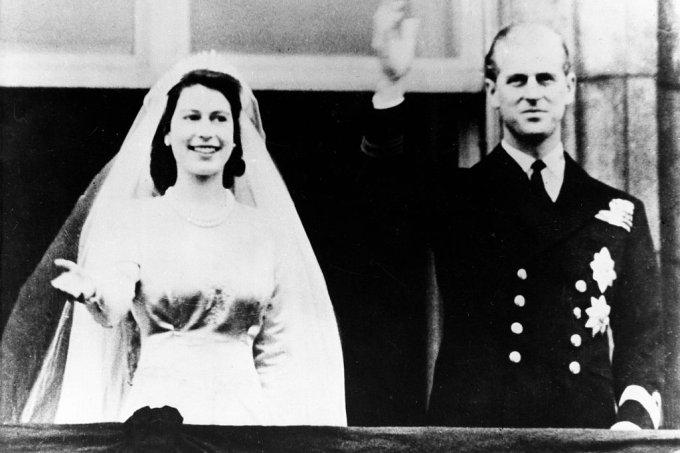 Elisabeth II. von GB/ Hochzeit mit Philip Mountbatten