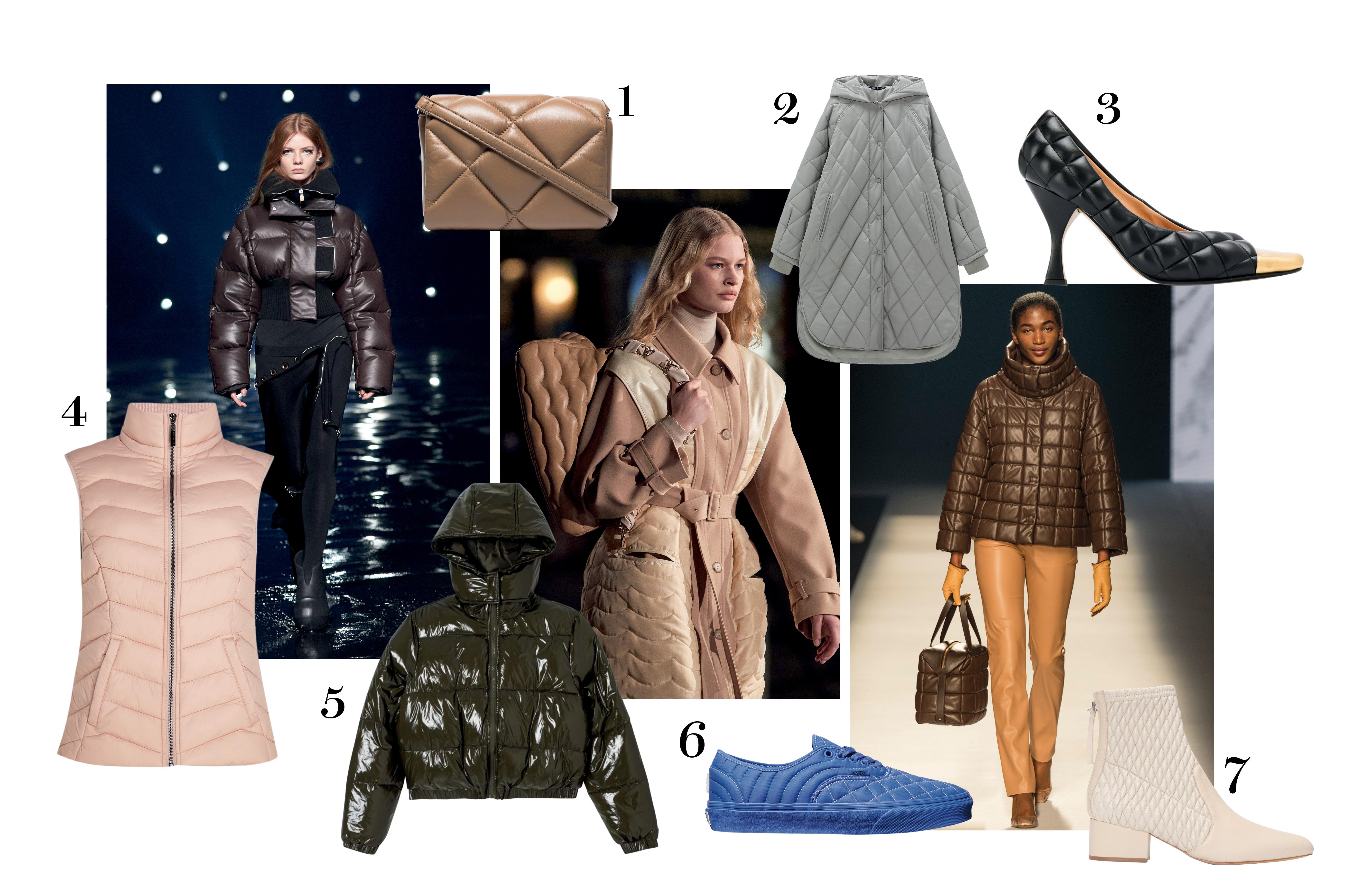 modelos e roupas de frio acolchoadas