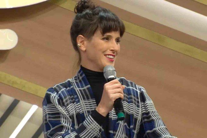 Helena Rizzo durante a coletiva do MasterChef
