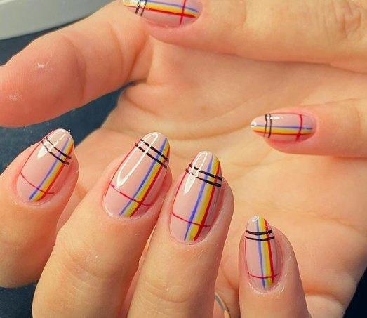 Plaid Nails 5
