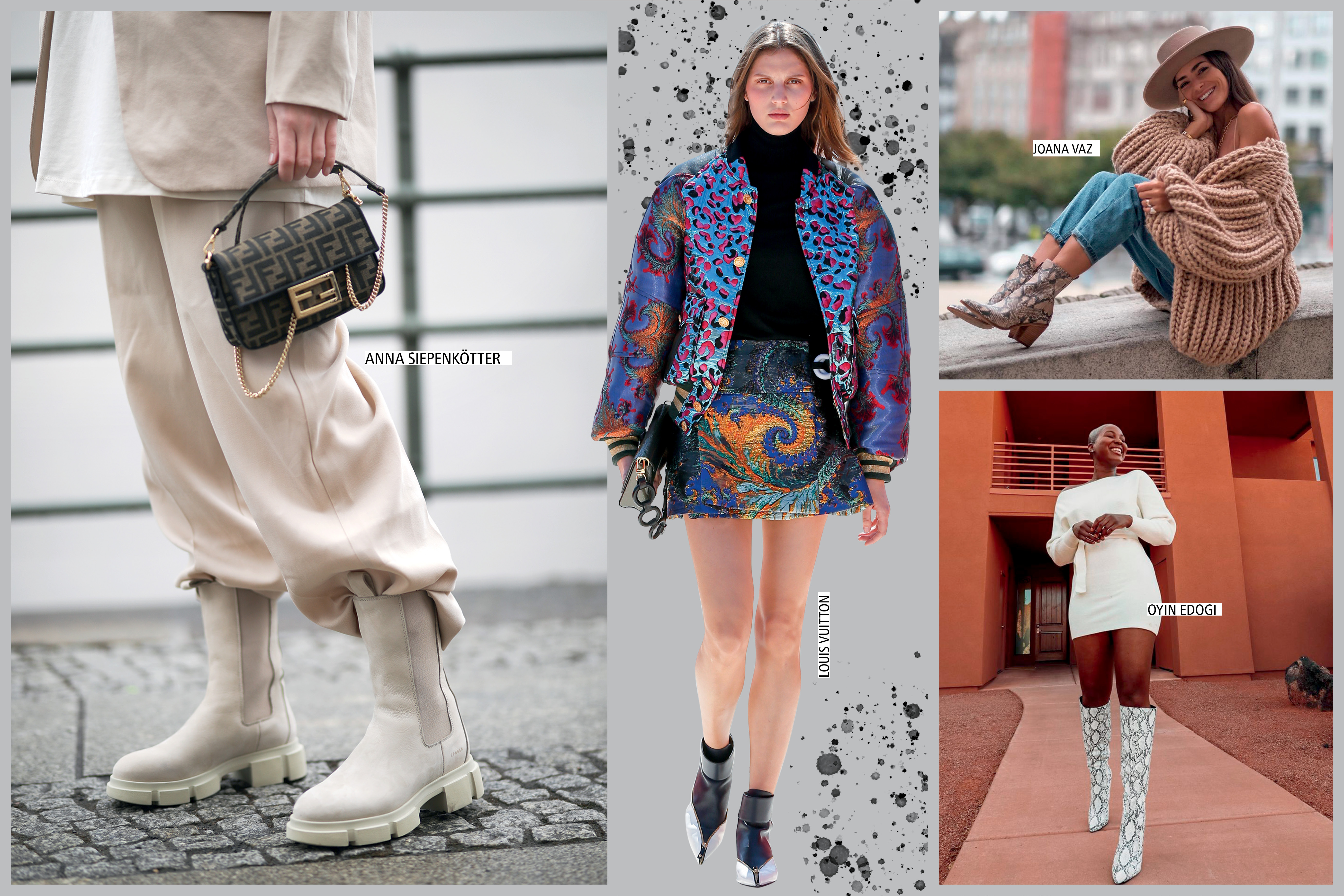 modelos usando botas