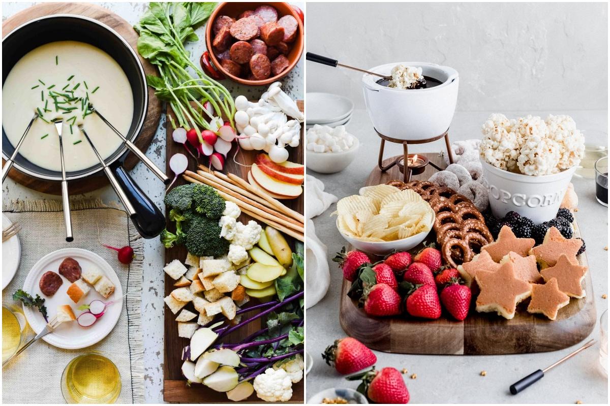 Ideias de como servir fondue
