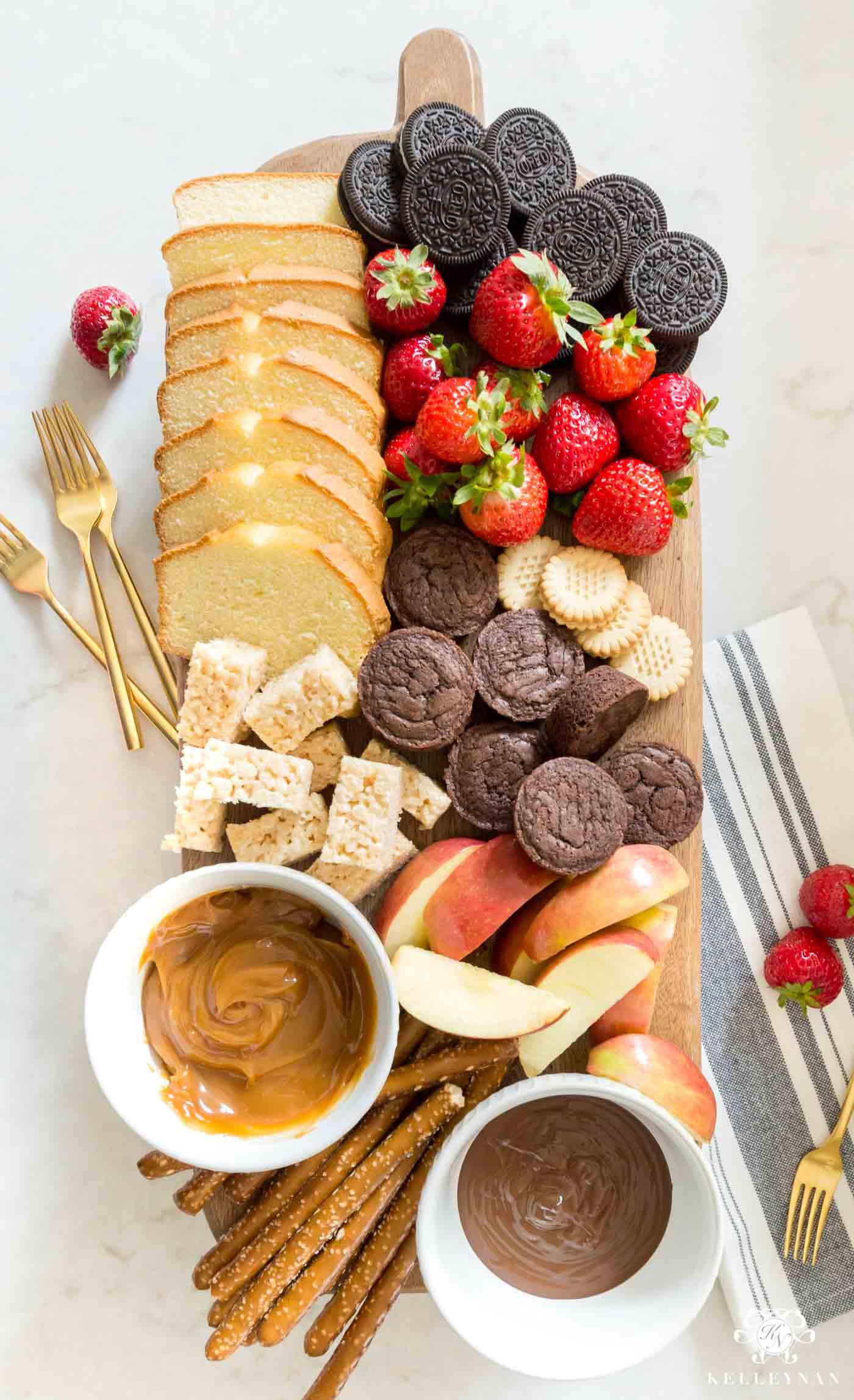 fondue de caramelo com frutas