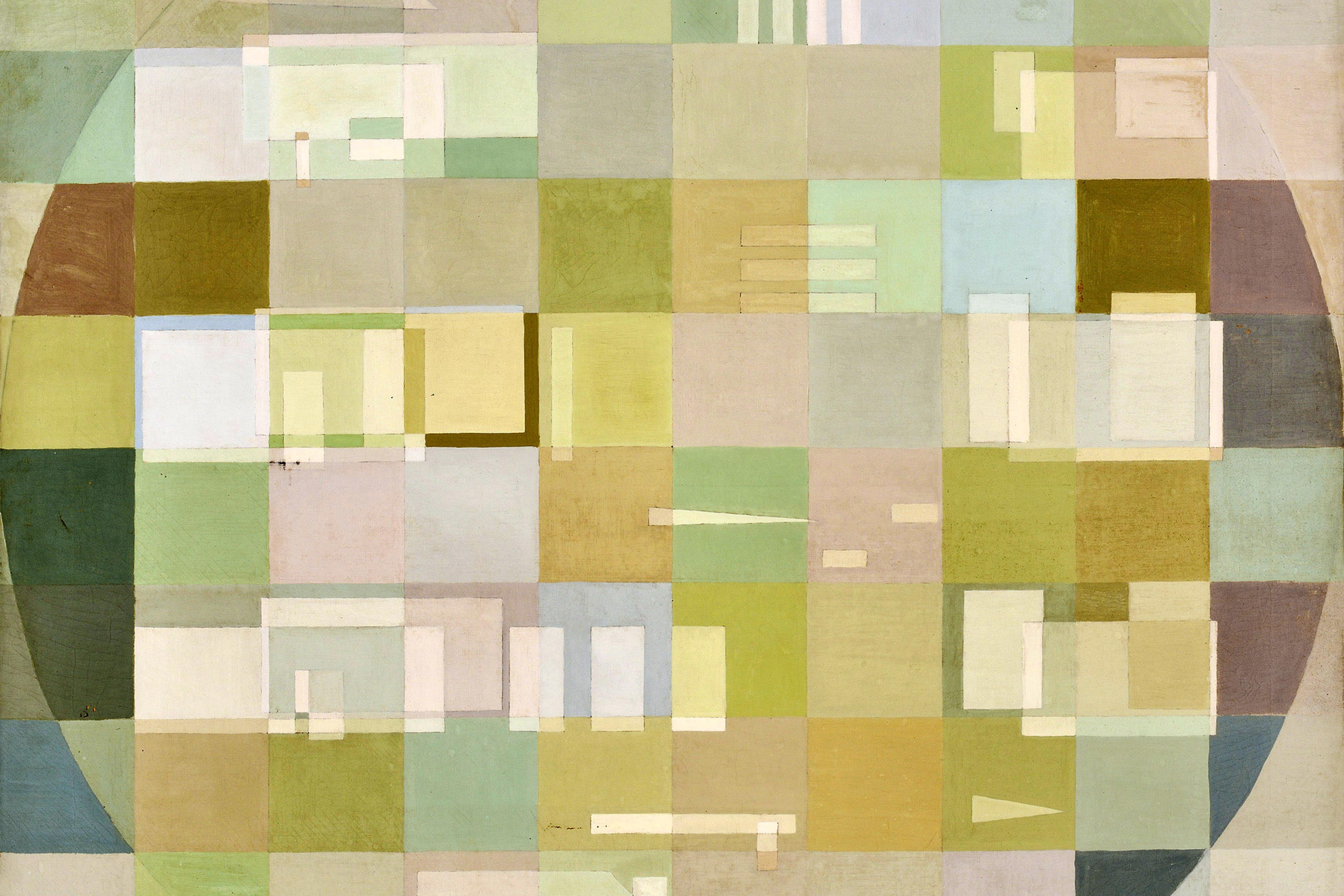 Composição, de 1952, óleo sobre tela