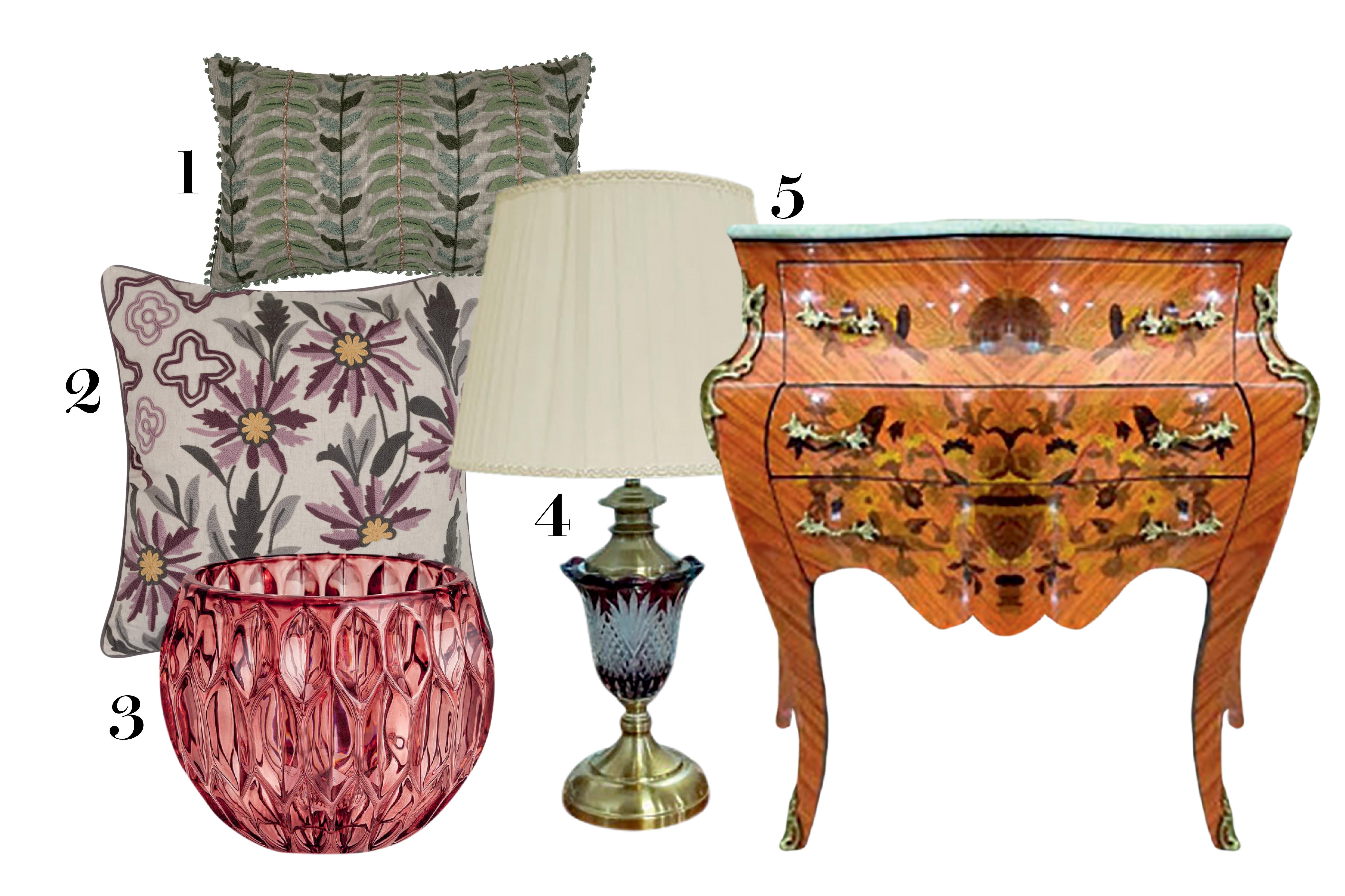 móveis e objetos de decoração