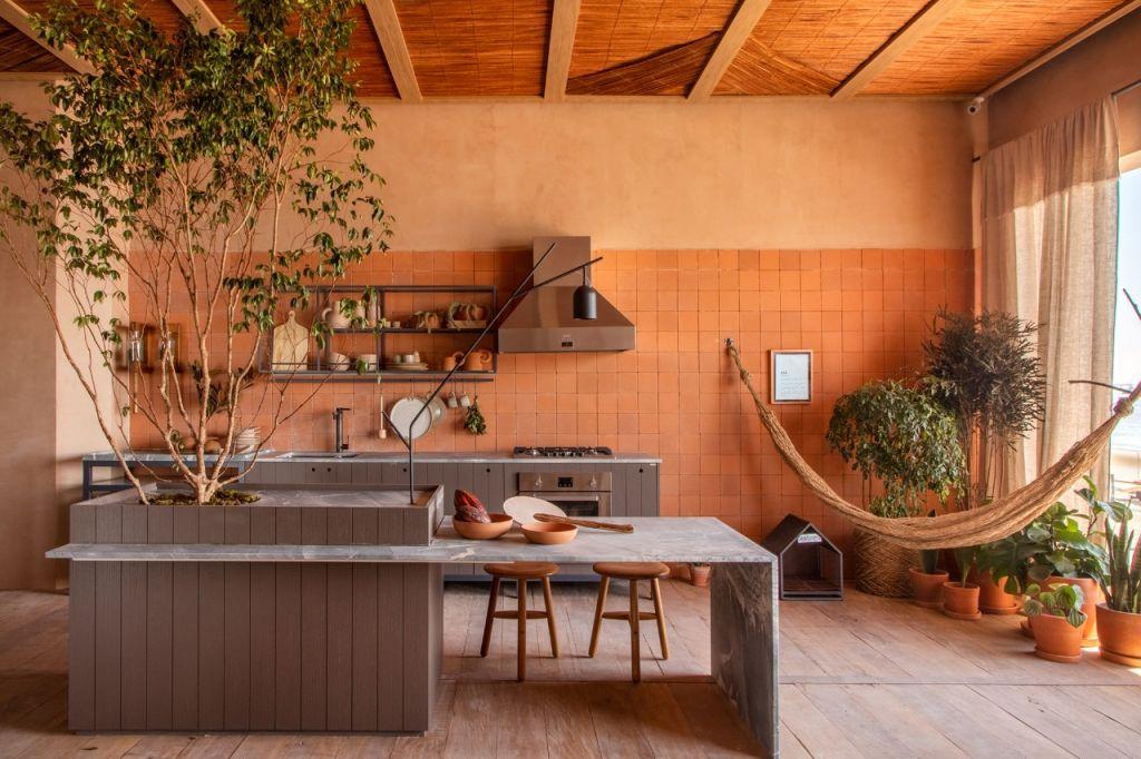 Cozinha com rede