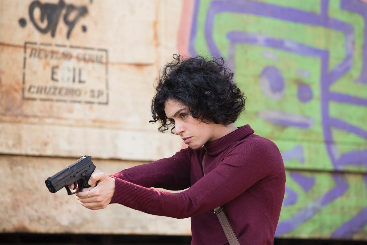 Maria Flor em gravações da série