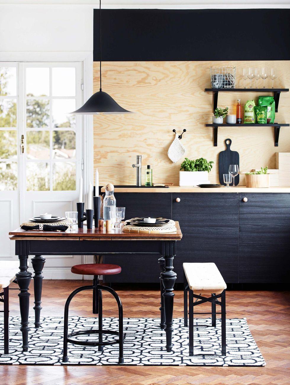 cozinha com prateleira aberta