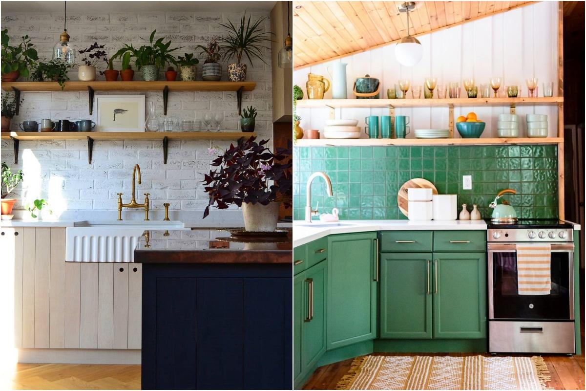 cozinhas com prateleiras abertas