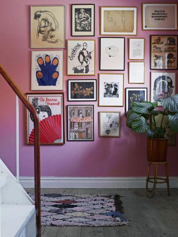 parede colorida decorada