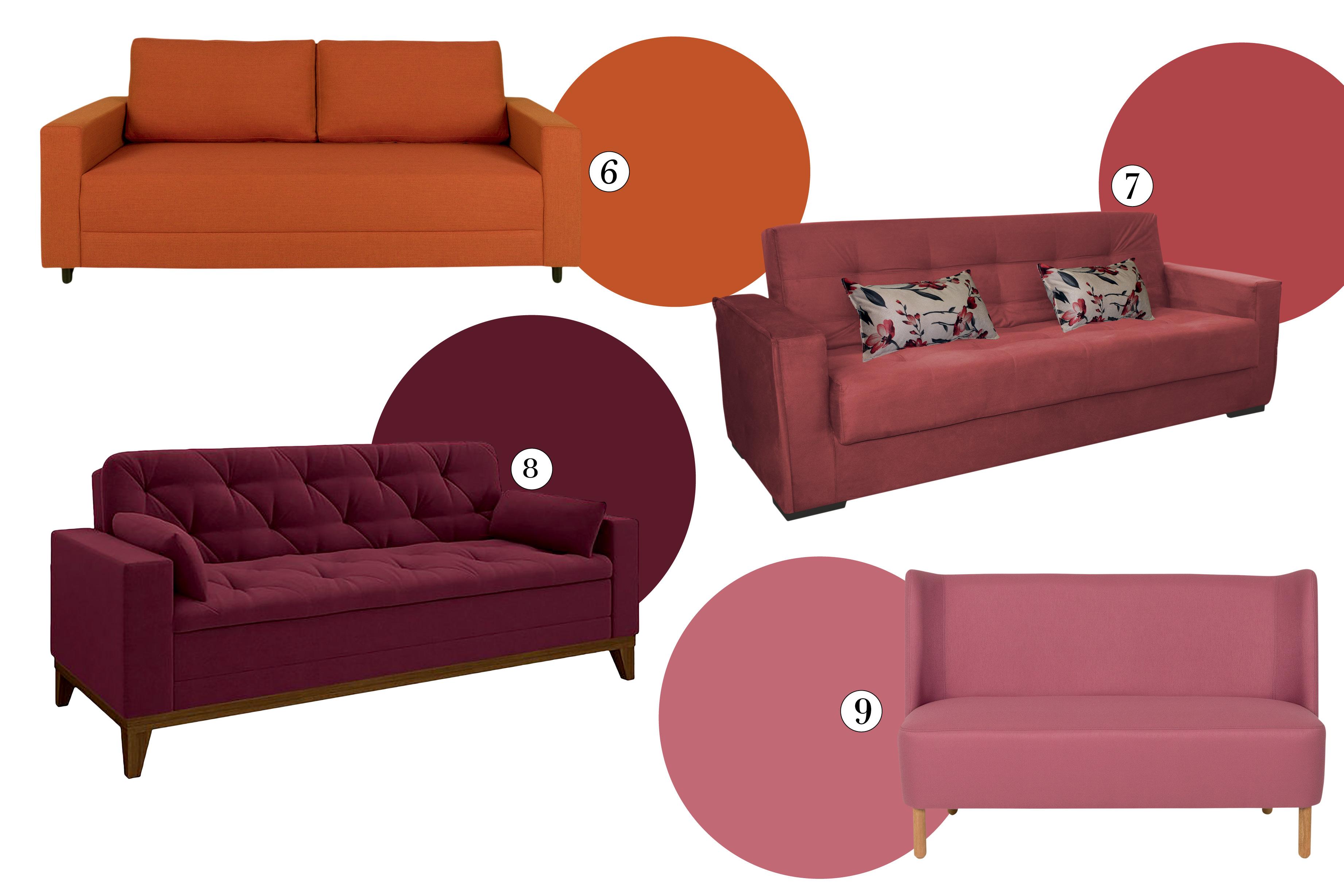 sofás coloridos