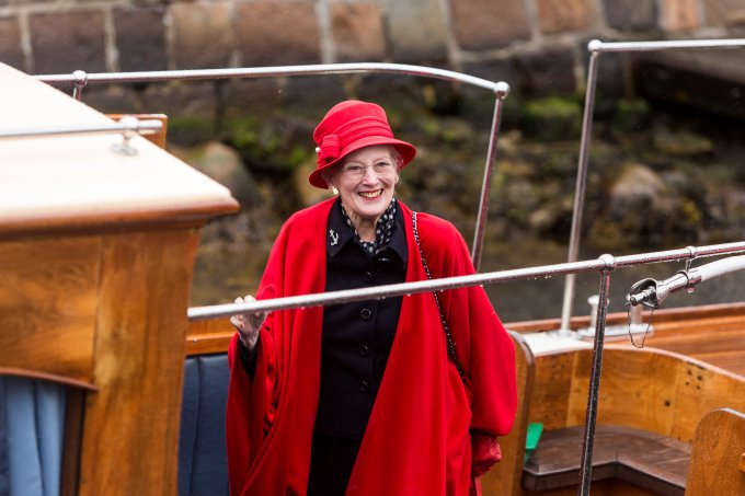 Queen Margrethe Of Denmark Embarks The Royal Ship To Commence The Sailing Season