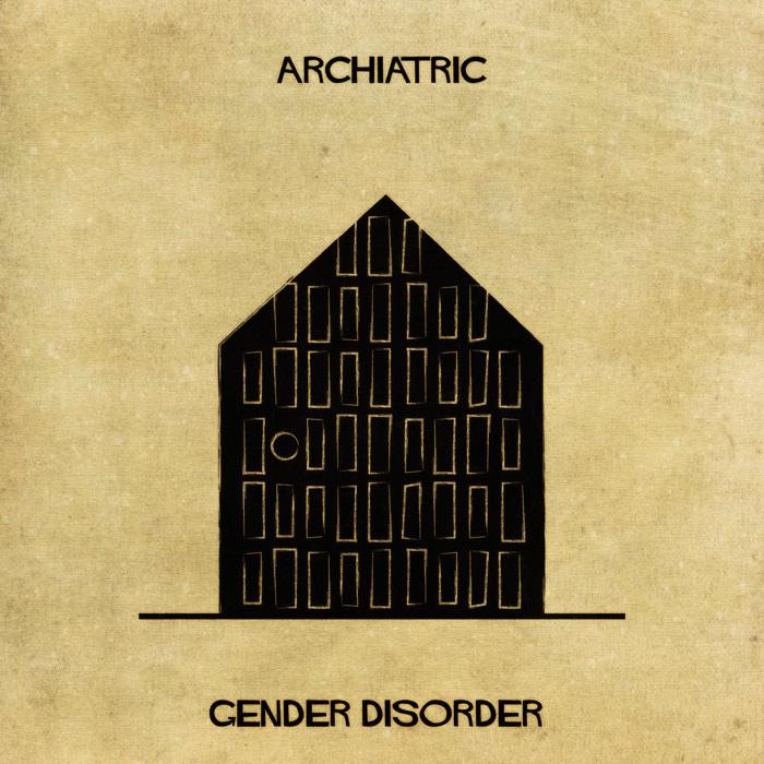 Ilustração de uma casa representando o conflito de gênero