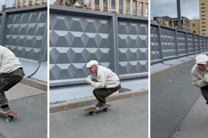 Senhor skatista