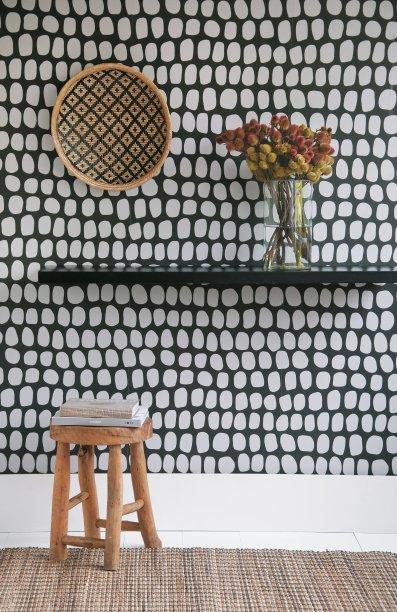 """Papel de parede modelo """"Semente"""", do designer Marcelo Rosenbaum para a Bobinex."""