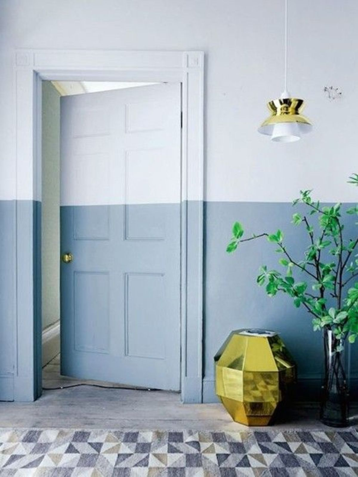 ideias para paredes bicolores