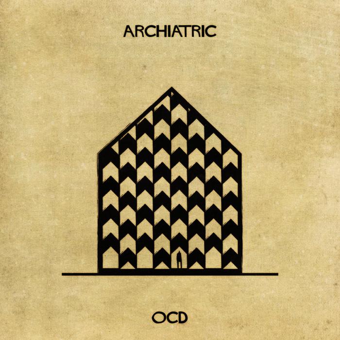 Ilustração de uma casa representando o TOC