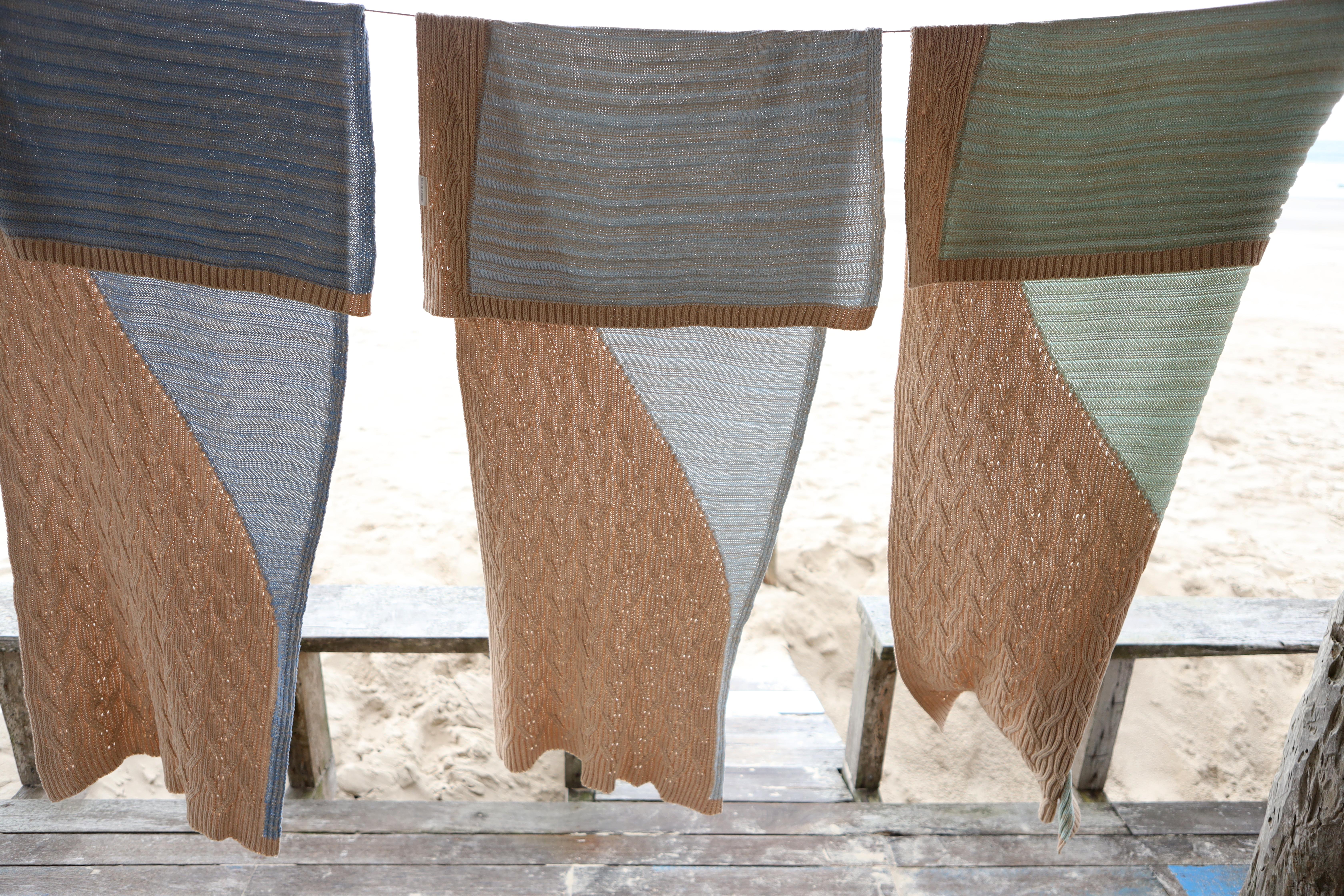 Nova coleção de mantas e almofadas é feita com material de reuso