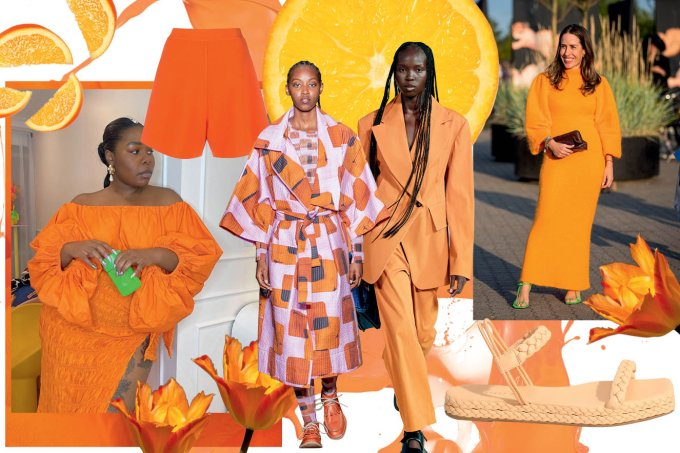 vitrine laranja destaque